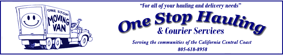 One Stop Hauling - Serving the communities of the California Central Coast
